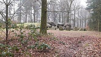 Drenthe - Papeloze Kerk, a dolmen (hunebed) near Schoonoord