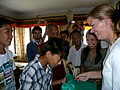 DAS Clements Is Greeted By a Group of Tibetan Refugee Youth (5836649561).jpg