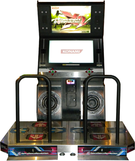 Dance Dance Revolution X2 machine created by Konami. DDR X2.png