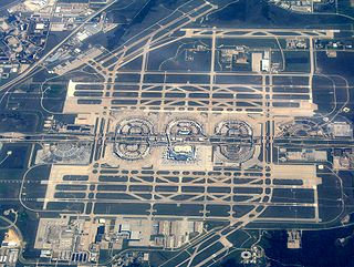 Dallas/Fort Worth International Airport Airport in Irving serving the Dallas-Fort Worth metro area in Texas, US