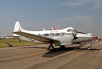 No. 207 Squadron RAF - A De Havilland DH 104 Devon of No. 207 Squadron in 1977