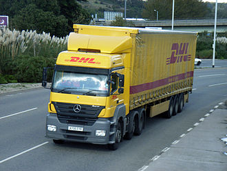 DHL Express - DHL semitrailer truck