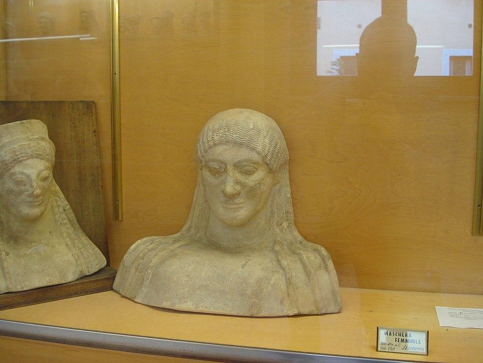 DSC00154 - Maschera del 520-450 aC, da Selinunte - Foto di G. Dall'Orto