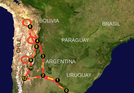 Route van de Dakar Rally 2016