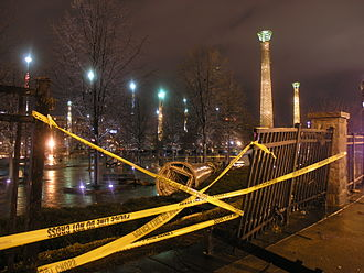 2008 Atlanta tornado outbreak - Damage to Centennial Olympic Park