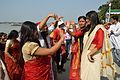 Dancing Devotees - Durga Idol Immersion Ceremony - Baja Kadamtala Ghat - Kolkata 2012-10-24 1324.JPG