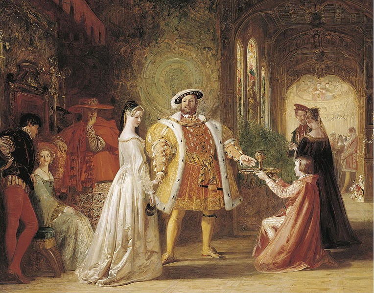 File:Daniel Maclise Henry VIIIs first interview with Anne Boleyn.jpg