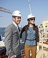 Danish royal couple cut steel in Korea for the first Triple-E vessel (7226937186) (cropped).jpg