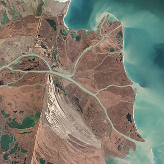Danube - Where the Danube Meets the Black Sea (NASA Goddard image).