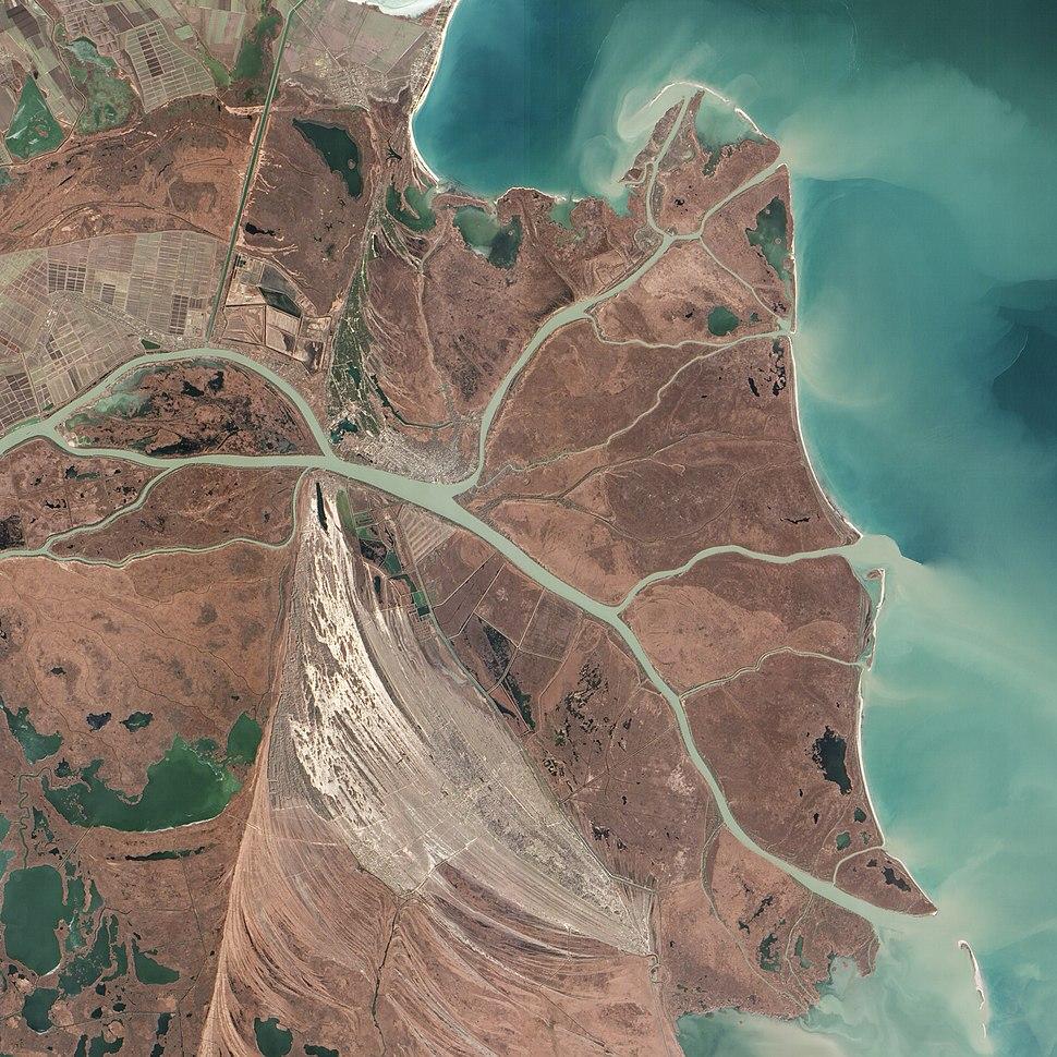 Danubedelta chilia lobe satellite image