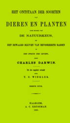 Charles Darwin: Het Ontstaan der Soorten van Dieren en Planten door Middel van de Natuurkeus