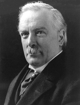 Treaty of Versailles - British Prime Minister David Lloyd George.