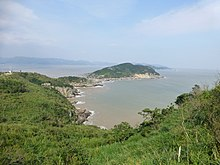 Asian river flowing into korea bay