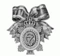 De Orde van Christiaan VII van Denemarken 1774 Versiersel aan strik.png