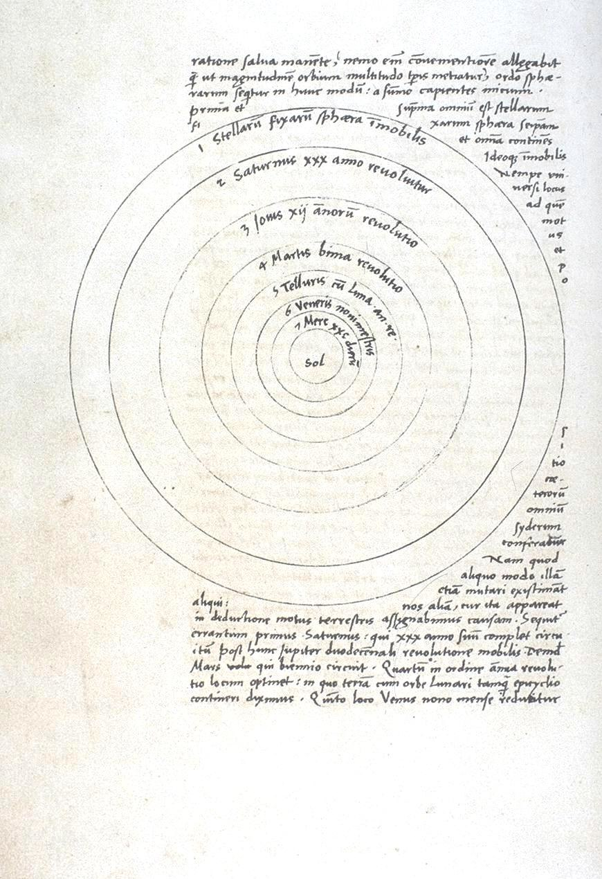 De Revolutionibus manuscript p9b