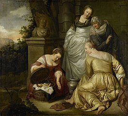 The daughters of Cecrops find Erechthonius