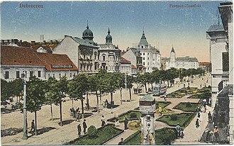 Debrecen - Piac Street in 1910s