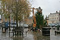 Decorating the Xmas Tree, Thirsk Market Square - geograph.org.uk - 615644.jpg