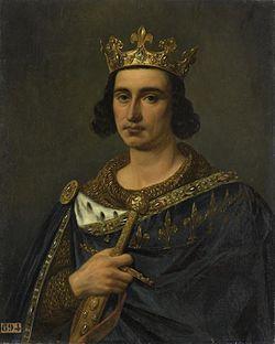 Portrait de Louis IX par Auguste de Creuse, 1837.