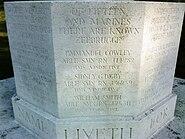 Dedication Text of Zeebrugge Cross of Sacrifice in Dover