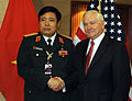 Defense.gov News Photo 100604-F-6655M-010 - Secretary of Defense Robert M. Gates poses for a photo with Vietnamese Minister of Defense Phung Quang Thanh prior to a bi-lateral meeting at the.jpg