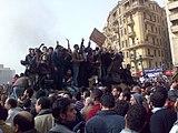 During the revolution in Egypt, President Hosni Mubarak is forced to resign.
