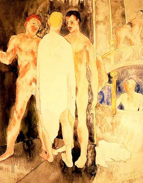 File:Demuth Charles Turkish Bath with Self Portrait 1918.jpg