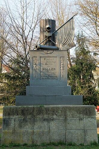 Friedrich, Freiherr von Zoller - Memorial to Friedrich von Zoller at the Ostenallee in Regensburg, Germany