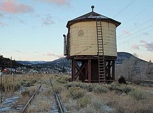 National Register of Historic Places listings in Rio Grande County, Colorado - Image: Denver & Rio Grande Railroad South Fork Water Tank