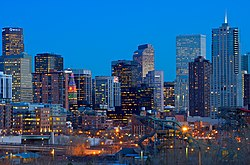 File photo of the Denver skyline.  Image: Larry Johnson.