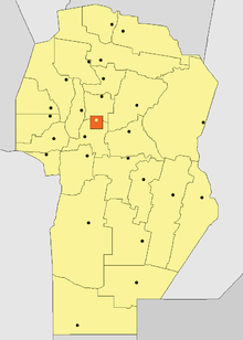 Location of Capital Department in Córdoba Province