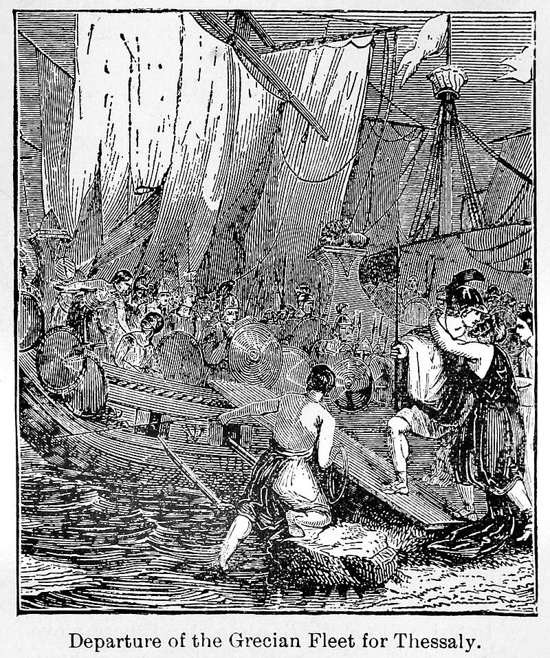 خروج ناوگان یونانی در نبرد آرتمیزیوم