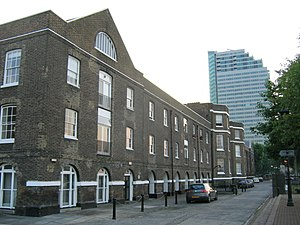 HM Victualling Yard, Deptford - Riverside storehouse and administrative office.