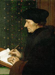 Desiderius Erasmus um 1523 (Gemälde von Hans Holbein d. J.) (Quelle: Wikimedia)