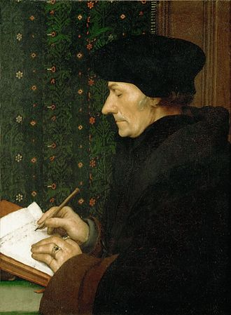Portrait of Erasmus of Rotterdam - The Louvre, 1523