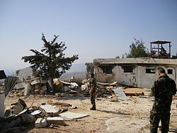 Destroyed UN base in Lebanon.jpg