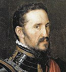 Detail of a portrait of Fernando Alvarez de Toledo by Antonio Moro