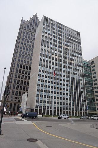 Coleman A. Young Municipal Center - The Coleman A. Young Municipal Center in December 2015