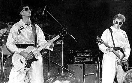 Devo performing live in Atlanta, Georgia, 1978: Bob Casale and Gerald Casale Devo, Atlanta, Ga., Dec. 27, 1978 Agora Ballroom.jpg