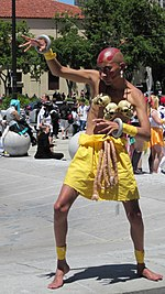 Dhalsim cosplayer at FanimeCon 2010-05-30 3