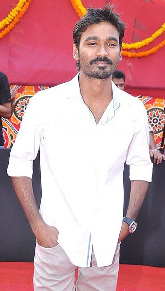 file dhanush at the launch of raanjhanaa     wikimedia