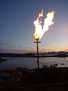 Diamond Jubilee Beacon at McCaigs Tower, Oban - 4th June 2012 - I Can See For Miles (geograph 2981608).jpg