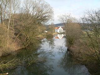 Eggel river in Germany