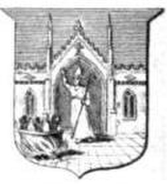 Coat of arms of Aberdeen - 19th century engraving of the second shield