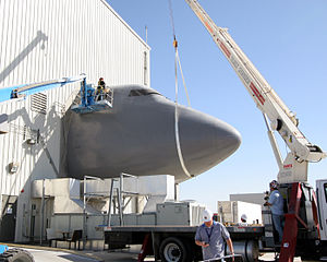 Boeing YAL-1 - Contractors dismantle the Boeing 747 fuselage portion of the System Integration Laboratory at the Birk Flight Test Center.