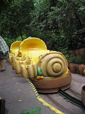 The Many Adventures of Winnie the Pooh (attraction) - Beehive ride vehicle