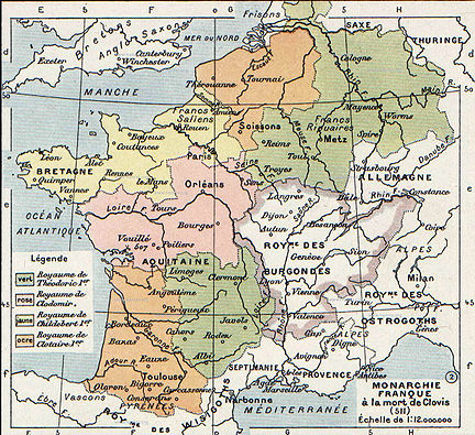 Map of Merovingian Gaul