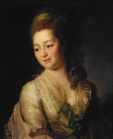 Дмитрий Левицкий. Портрет Марии Дьяковой, 1778.