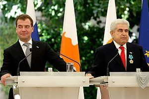 News conference following Russian-Cypriot talks.