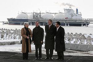 Maria van der Hoeven - Image: Dmitry Medvedev in Yuzhno Sakhalink 18 February 2009 2